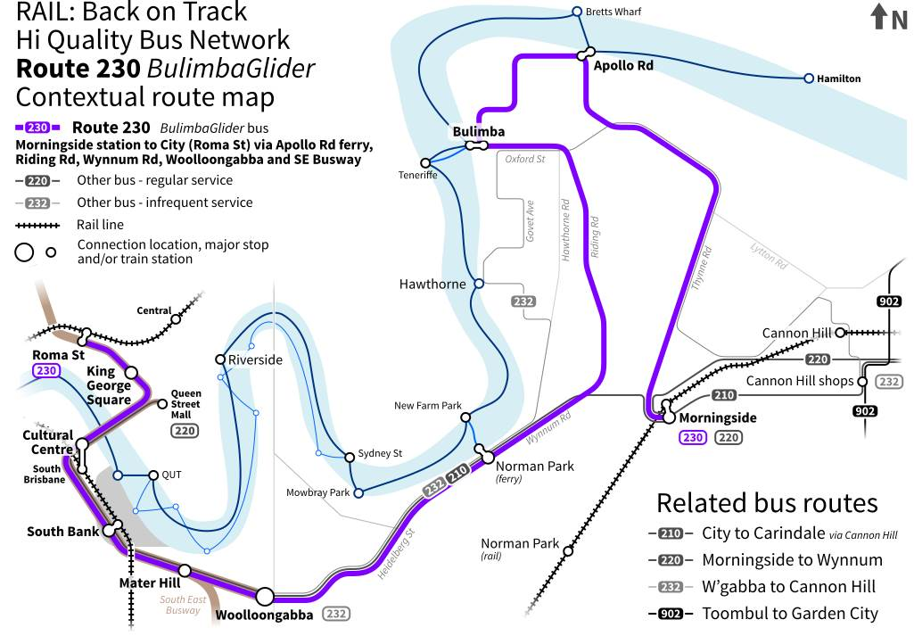 Brisbane bus network proposal rail back on track httpbackontrack a web based community support group for rail and public transport and an advocate for public transport sciox Gallery